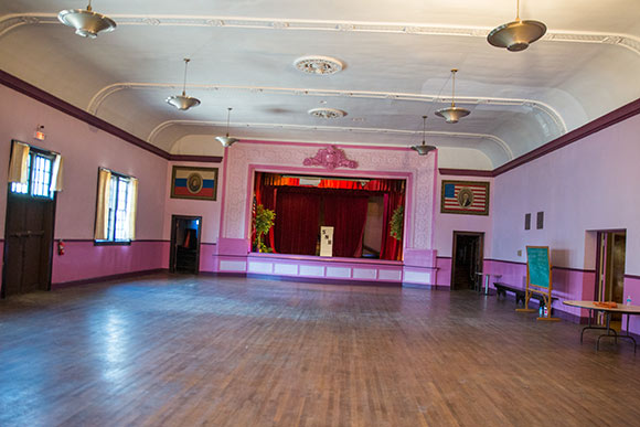 The candy-coated pink hall at the Nash