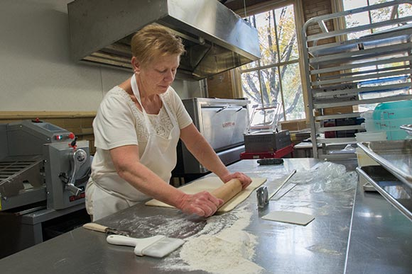 Debbie Holzheimer of Metro Croissants works out of the kitchen of the Hildebrandt