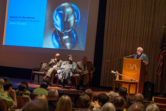 William Brouillard recieved the Award for Artistic Achievement at the CIA Prism ceremony