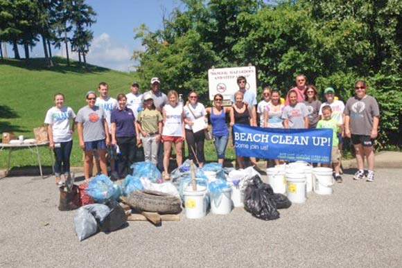 Drink Local. Drink Tap. held monthly beach cleanups at Edgewater before the Metroparks took over