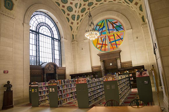 "CPL is the first major metropolitan library to adopt the ""open shelf plan,"" allowing patrons to browse through the books"