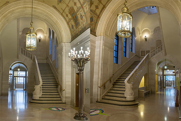 The two main staircases at CPL