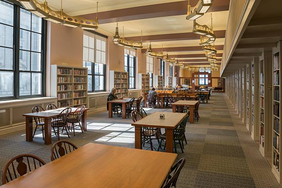 One of the reading rooms at CPL