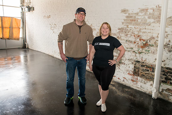 Winemaker  Dave Mazzone and owner Destiny Burns of CLE Urban Winery