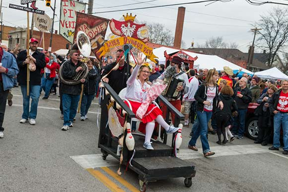 The annual Dyngus Day celebration in Gordon Square