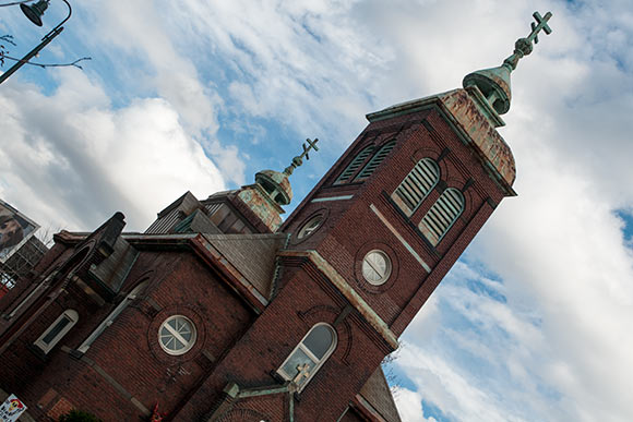 Romanian Orthodox church now owned by Cleveland Public Theater