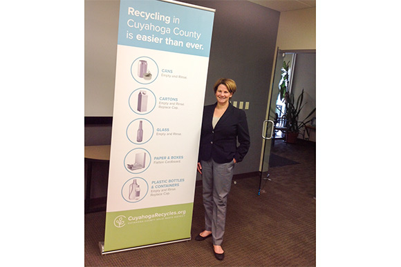 Diane Bickett, executive director of the Cuyahoga County Solid Waste District