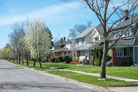 Ludgate Road exemplifies the neighborhood vibe with its sidewalks and front porches
