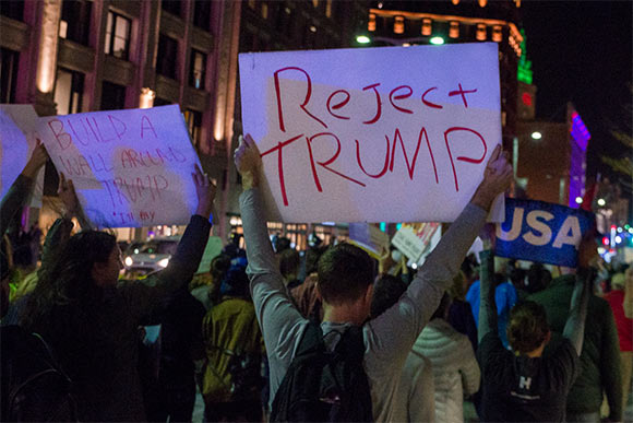 Election Protests in Cleveland