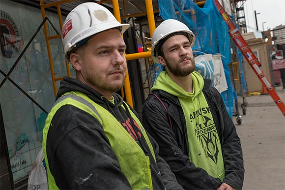 Chris Diluzio and Anthony Reed, Construction Workers