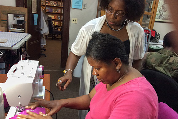 Black Butterflies teaches women how to create and sell garments as they are recovering from trauma associated with substance addiction, homelessness and various mental health stressors.