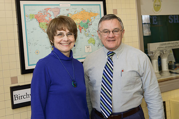Birchwood School founder and head of school Charles Debelak (right) and wife Helene Debelak, Birchwood's director of curriculum