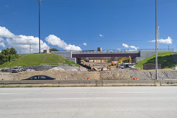 Digging out the underpass in July of 2015