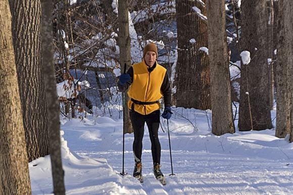 Cross-country skiier at Girdled Road Reservation