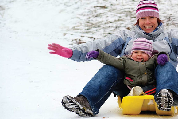 Winter sledding in the Cleveland Metroparks