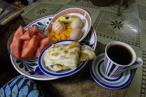 Breakfast from Lindsay's host in Zanzibar