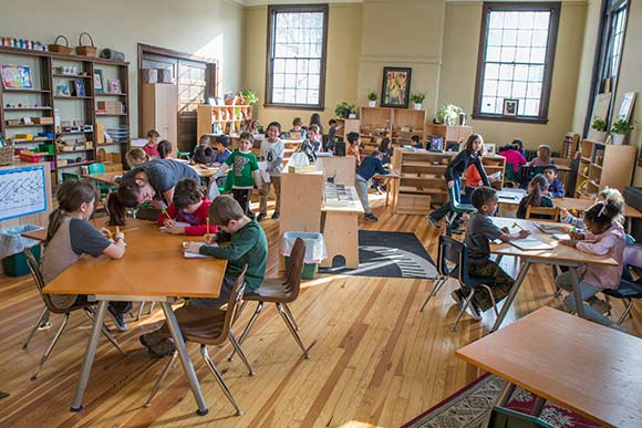Cleveland Montessori began officially began classes in the newly-renovated Alta House on January 19