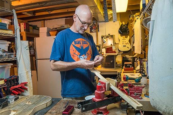 David Lackey in his home workshop