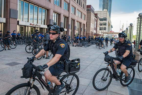 Police bicycle brigade for the RNC