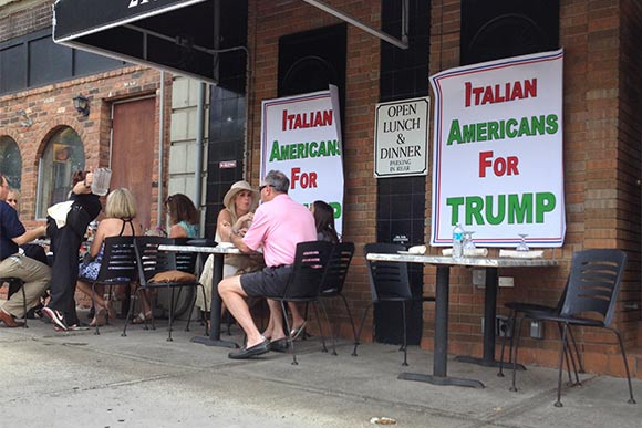 Little Italy welcomes Donald supporters