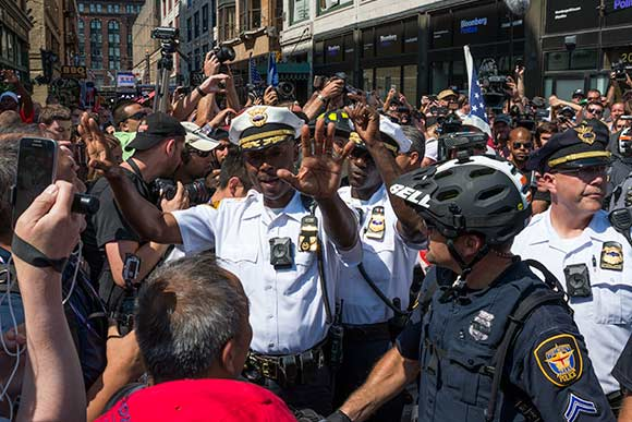 Cleveland Police Chief Calvin Williams in control