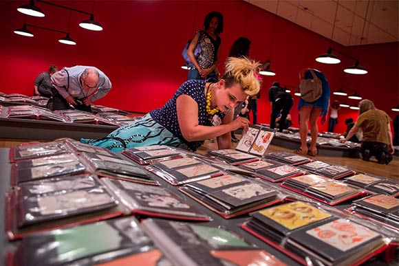 Collection of 30,000 postcard-sized drawings by Mark Mothersbaugh on exhibit at the Akron Art Museum