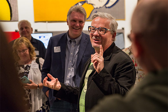 Mark Mothersbaugh talking about his art  at  MOCA Cleveland