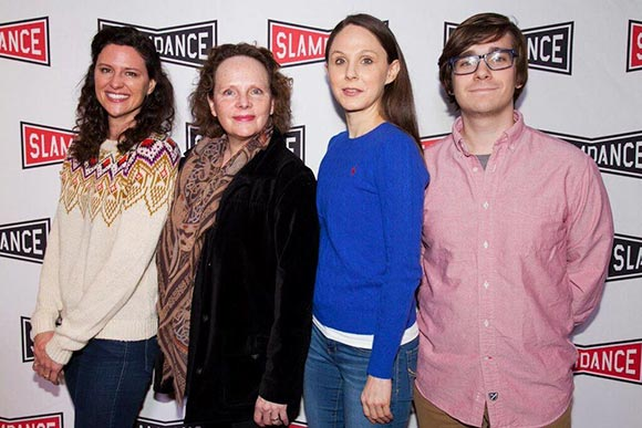 Mad cast at the premiere: L to R: Jennifer Lafleur, Maryann Plunkett, Eilis Cahill & director Robert Putka