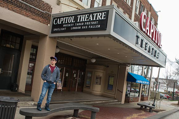 Robert Putka at the Capitol Theater where Mad will premire for CIFF40