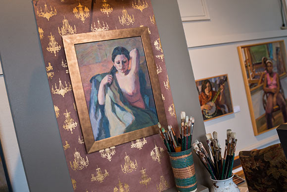 Portrait artist Tricia Kaman's Murray Hill Galleries studio