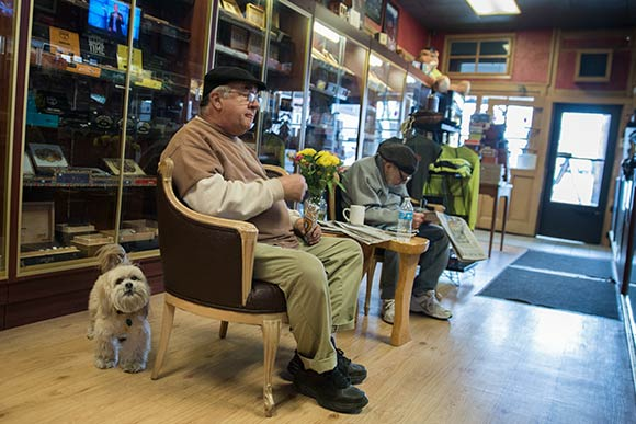 Locals at the Mayfield Smoke Shop
