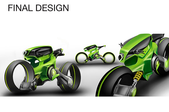 Design for Cleveland Cyclewerks by CIA student Mazher Udaipurwala