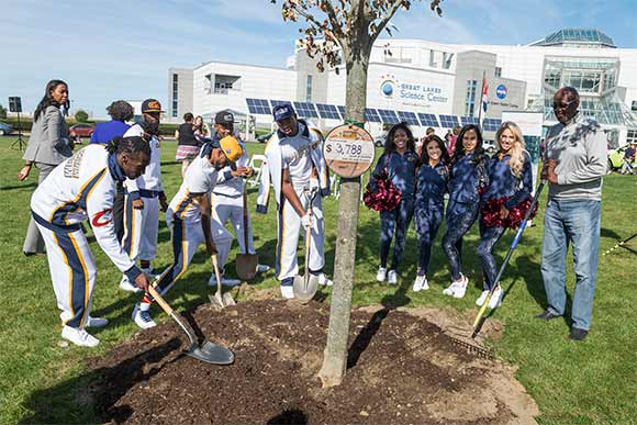 WRLC partnered with the Cleveland Cavaliers and several other organizations via the Trees for Threes effort