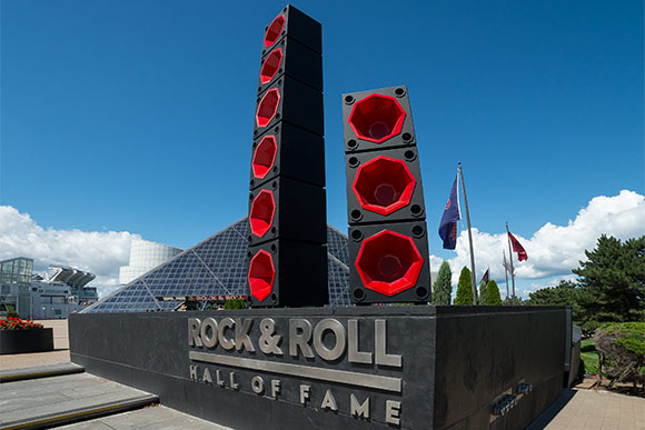 Class of 2006 alum Mark Reigelman's Rock Box installation at the Rock and Roll Hall of Fame