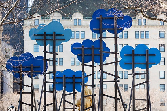Olaf Breuning's installation, Clouds, Public Art Fund, New York, NY curated by Andria Hicke