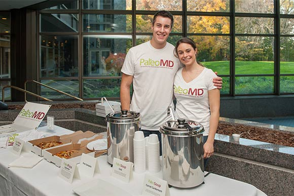 Patricia Urcuyo of PaleoMD and brother Dani at the Cleveland Clinic Health Fair