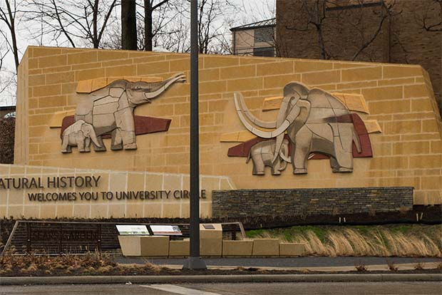 Schreckengost�s Mammoth and Mastodon sculptures today grace the Cleveland Museum of Natural History grounds