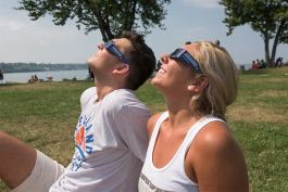 Solar eclipse of August 21, 2017 at Edgewater Park
