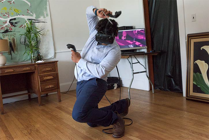 Getting into the VR experience at WMCF
