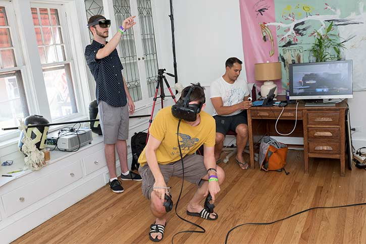 VR fun at Weapons of Mass Creation Fest
