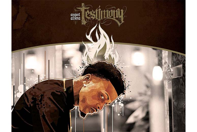 "Digital Music Package Design by mr.soul for DefJam recording artist August Alsina's debut album, ""Testimony""."