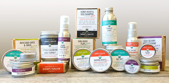 Local: seven all natural beauty product lines