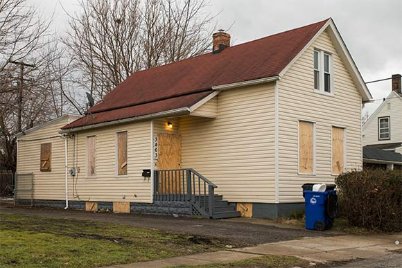 Slavic Village home using plywood now banned in Ohio