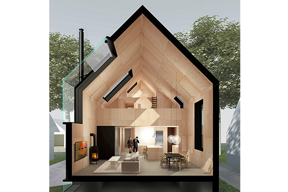First-prize Donnelly Eber Architects, out of New York City and Cleveland-based Simcon Homes
