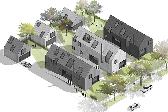 First-prize Donnelly Eber Architects and  Simcon Homes