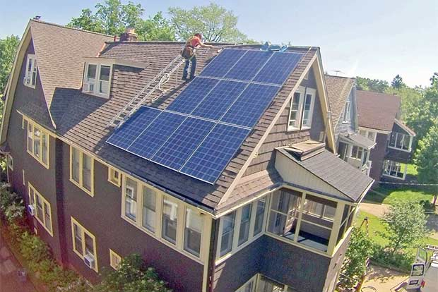 Residential solar installation in Cleveland Heights by AAT Solar