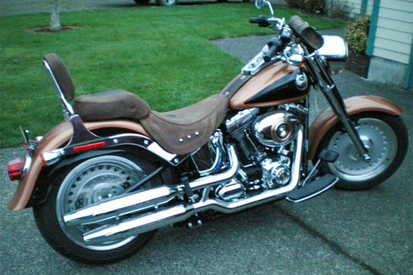 Custom seat in crazy horse brown