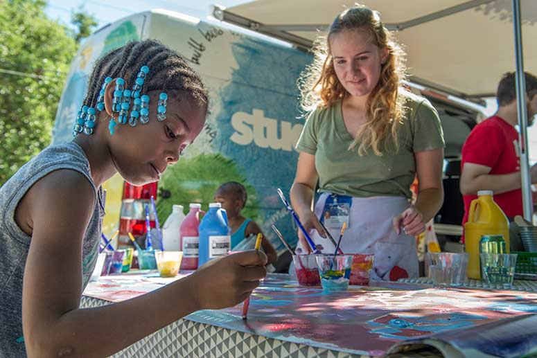 Studio Go van brings hands-on art experiences for area neighborhoods like Hough and Fairfax
