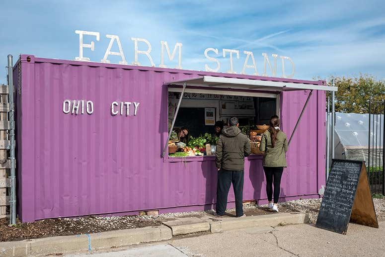 Ohio City Farm produce stand