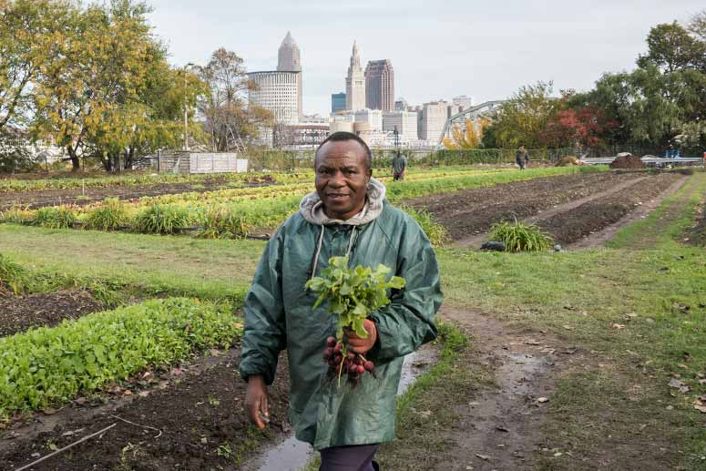 Ohio City Farm's workers from The Refugee Empowerment Agricultural Program.